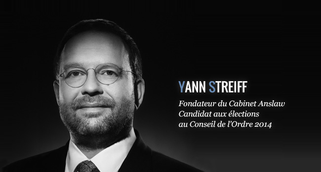 Yann Streiff - Fondateur du Cabinet Anslaw, Candidat aux élections au Conseil de l'Ordre